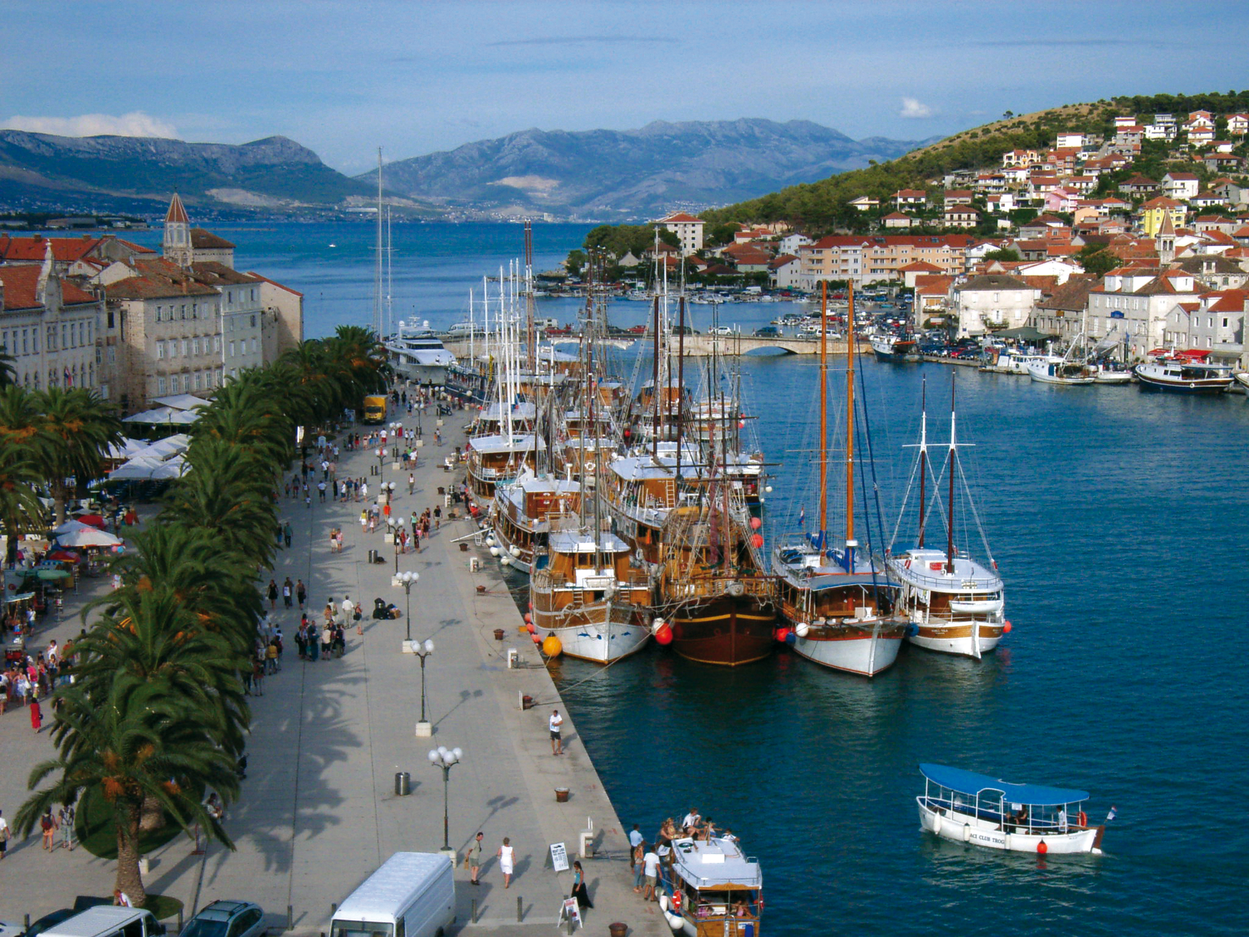 Trogir Croatia  city pictures gallery : View from Kamerengo Fortress in Trogir, Croatia, where the boats are ...