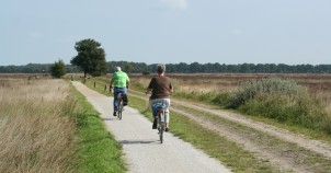 Cycling on quiet bike paths through quiet country. Photo courtesy of Netherlands Board of Tourism