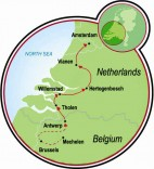 Brussels to Amsterdam Map