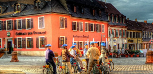 Cyclists in Speyer. Photo via Flickr:alainim