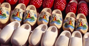 Wooden shoes before and after painting