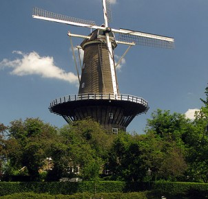"""De Valk"" windmill in Leiden. Photo via Wikimedia Commons:Erik Zachte"