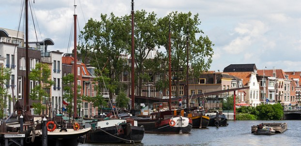 Harbor in Leiden. Photo via Flickr:Qiou87
