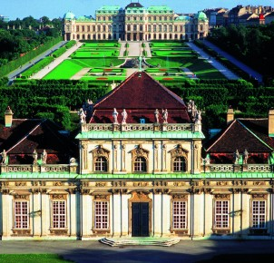 Belvedere Palace in Vienna - photo courtesy of Austrian National Tourist Office
