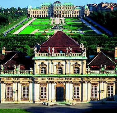 Belvedere Palace in Vienna, Austria. Photo courtesy of Austrian National Tourist Office