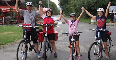 Biking Passau to Vienna. Photo from the Zanin Family