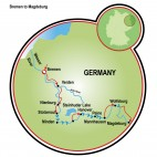 Bremen to Magdeburg Map