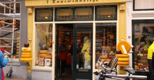 A cheese or 'kaas' shop.