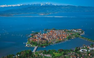 View of the island of Lindau on Lake Constance