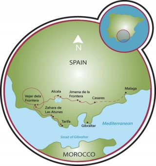 Küste Andalusiens Map