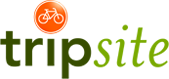 logo for trip site bike and barge active travel tour company